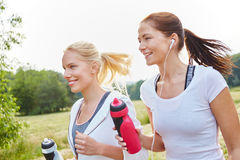 Young and active women running Stock Photos