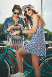 Young active women Royalty Free Stock Photography