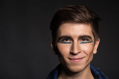 The young actor on a dark background Royalty Free Stock Image