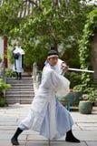 Young actors performing Kung fu, Kaifeng, Henan, China