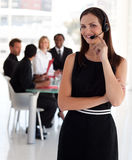 Young adorable business woman Stock Images