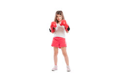 Young adorable and cute boxer girl Royalty Free Stock Image