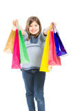 Young and adorable shopping girl Royalty Free Stock Photo