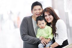 Young adult asian family Stock Photo