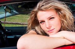 Young adult blonde woman Stock Photos