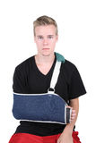 Young Adult with a broken hand Stock Photo