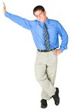 Young adult businessman royalty free stock image