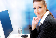 Young adult businesswoman Stock Images