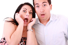 Young adult couple in cinema movie stock images