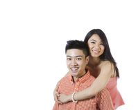Young Adult Couple Expressing Happiness Together Royalty Free Stock Image