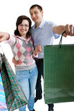 Young adult couple shopping Stock Photos