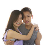 Young Adult Couple Showing happiness being together Stock Photos