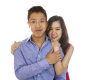 Young Adult couple Showing happiness Stock Photo