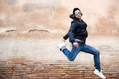 Young adult dancing Royalty Free Stock Image