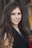 Young adult female smiling Royalty Free Stock Image