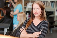 Young Adult Hairstylist Royalty Free Stock Images