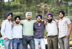 Young adult indian sikh men Stock Image