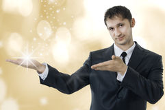 Young adult magic business man Stock Photos