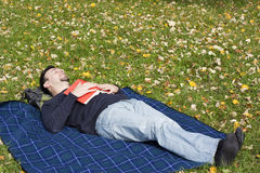 Young Adult Relaxing Royalty Free Stock Photos