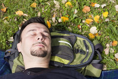 Young Adult Relaxing Royalty Free Stock Photography
