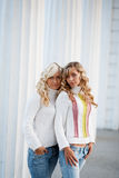 Young adult sisters Stock Photo
