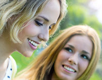 Young Adult  Sisters at the park Stock Image