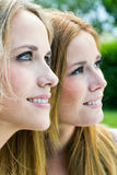 Young Adult  Sisters at the park Royalty Free Stock Photography