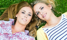 Young Adult  Sisters at the park Royalty Free Stock Image