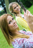 Young Adult  Sisters at the park Stock Images