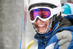 Young adult snowboarder Royalty Free Stock Image