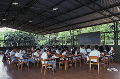 Young adult students in classroom. Classroom with adult students in Amazonia, Brazil Stock Images