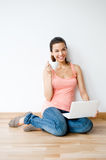 Young Adult Using Laptop Stock Images