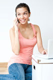 Young Adult Using Laptop Stock Photography