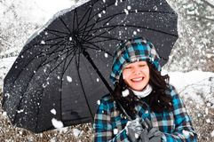 Young adult at winter Stock Photos