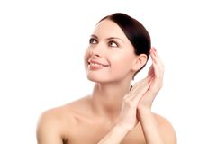 Young adult woman with health skin of face Royalty Free Stock Photography