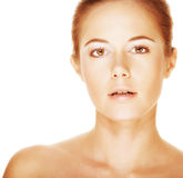 Young adult woman with health skin of face Royalty Free Stock Photos