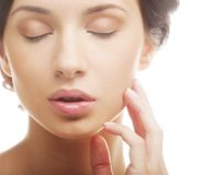 Young adult woman with health skin of face Royalty Free Stock Photo