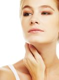 Young adult woman with health skin of face Royalty Free Stock Images