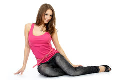 Young adult woman posing royalty free stock image
