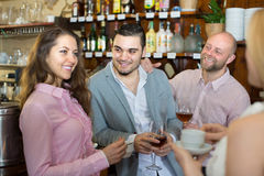 Young adults in bar royalty free stock images