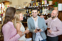 Young adults in bar Stock Photo