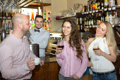 Young adults in bar Stock Images