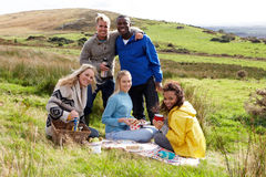 Young adults on country picnic Stock Images