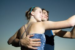 Young Adults Dancing Stock Images