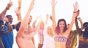 Young Adults Having Beach Party In Summer Concept Royalty Free Stock Images