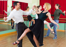 Young adults having dance class Royalty Free Stock Photos