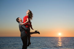 Young adults in love Royalty Free Stock Images