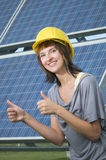 Young adults for photovoltaics Royalty Free Stock Images