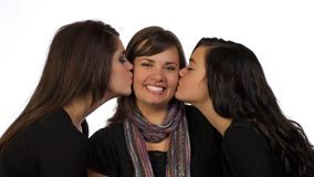 Young Adults Sister's Kiss Royalty Free Stock Images