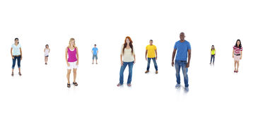Young Adults Standing With White Background Stock Images